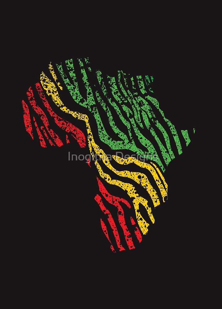 Reggae Africa Map by inogitna