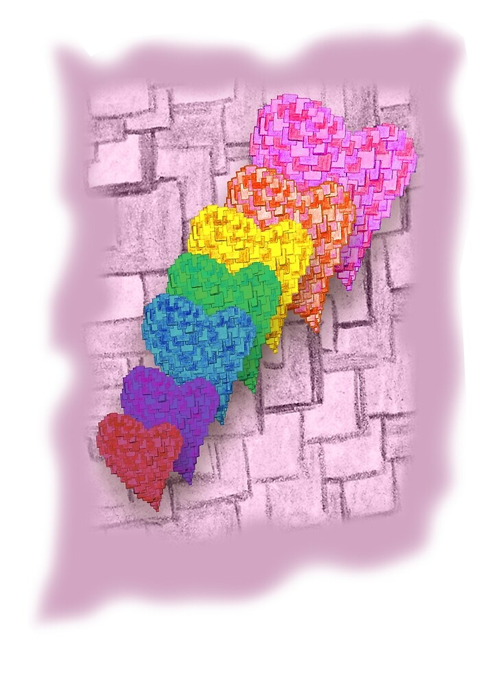 Hearts on pride parade by Snaret