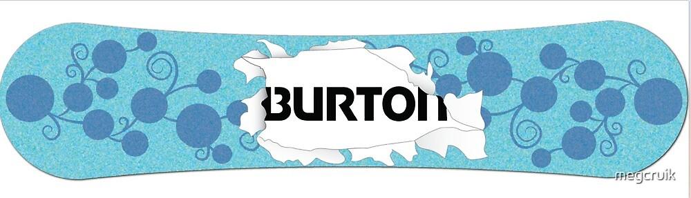 Burton Snowboard Illustration by megcruik