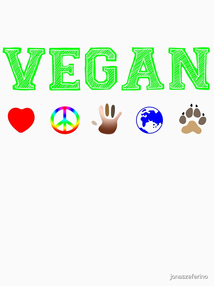 Vegan Peace and Love by jonaszeferino