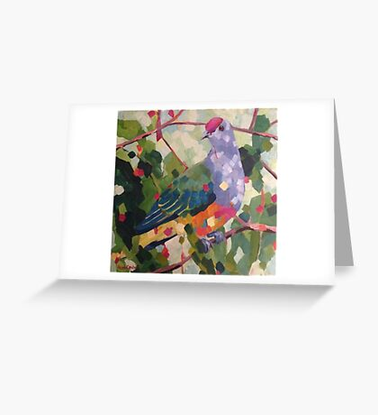 Rose Crowned Fruit Dove Greeting Card