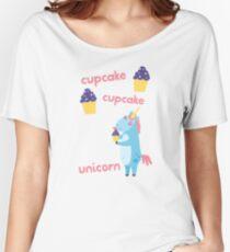 Cupcake Cupcake Unicorn ~ Magical Birthday Treat Women's Relaxed Fit T-Shirt