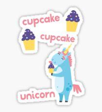 Cupcake Cupcake Unicorn ~ Magical Birthday Treat Sticker