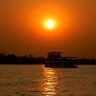 Zambezi Sunset by Leon Heyns