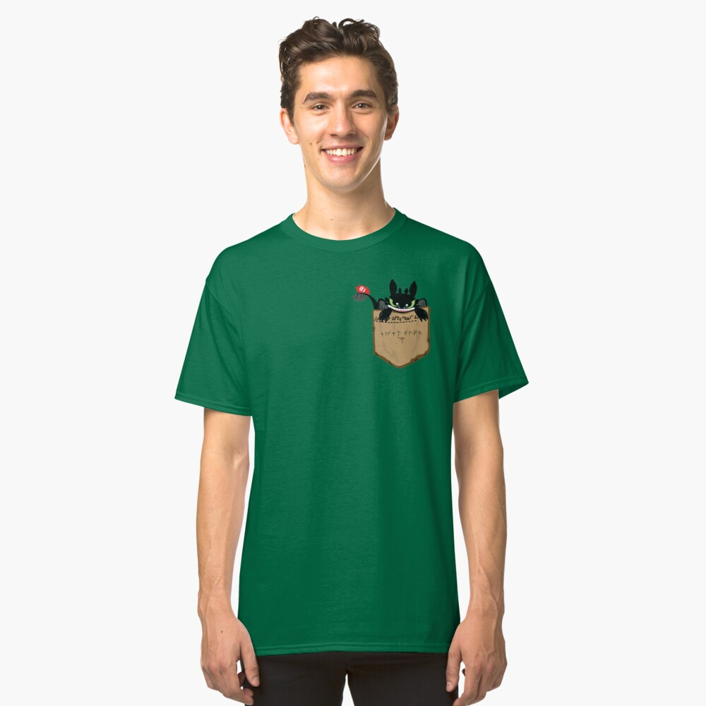 How to pet your NightFury Classic T-Shirt Front