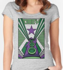 OBEY Purple Tentacle Women's Fitted Scoop T-Shirt