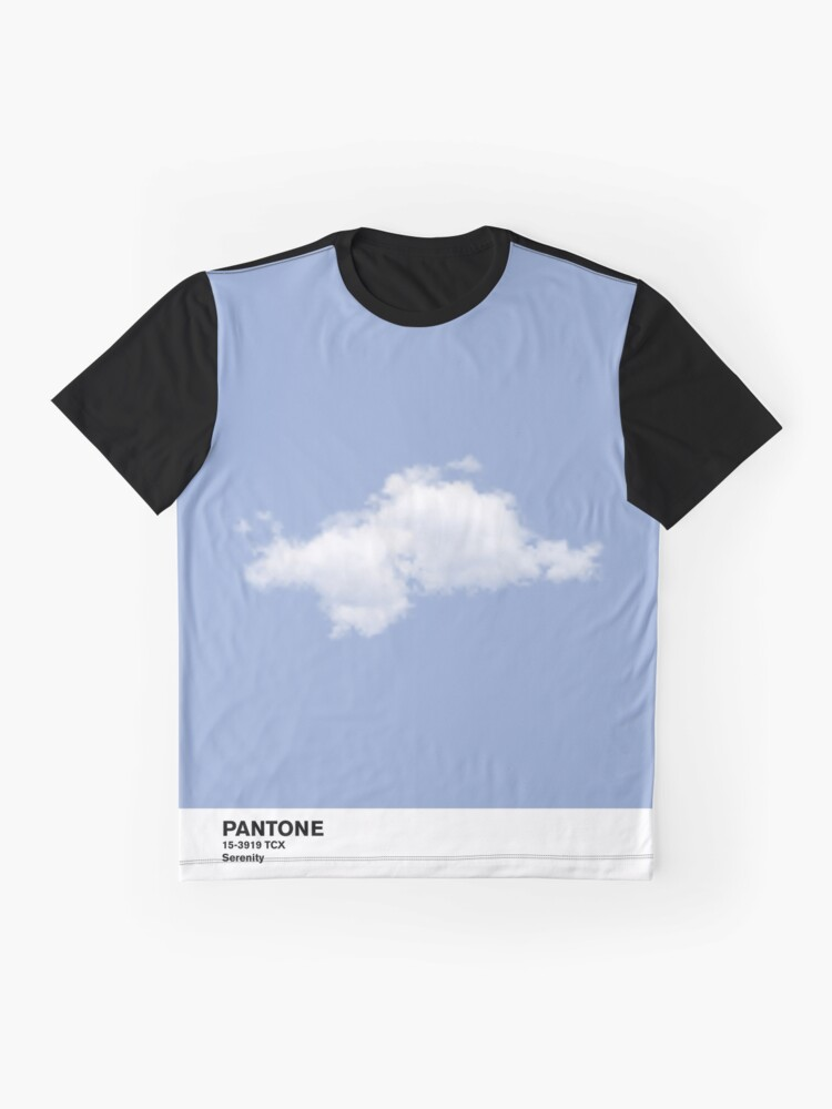 Vista alternativa de Camiseta gráfica Serenity Blue Pantone Cloud