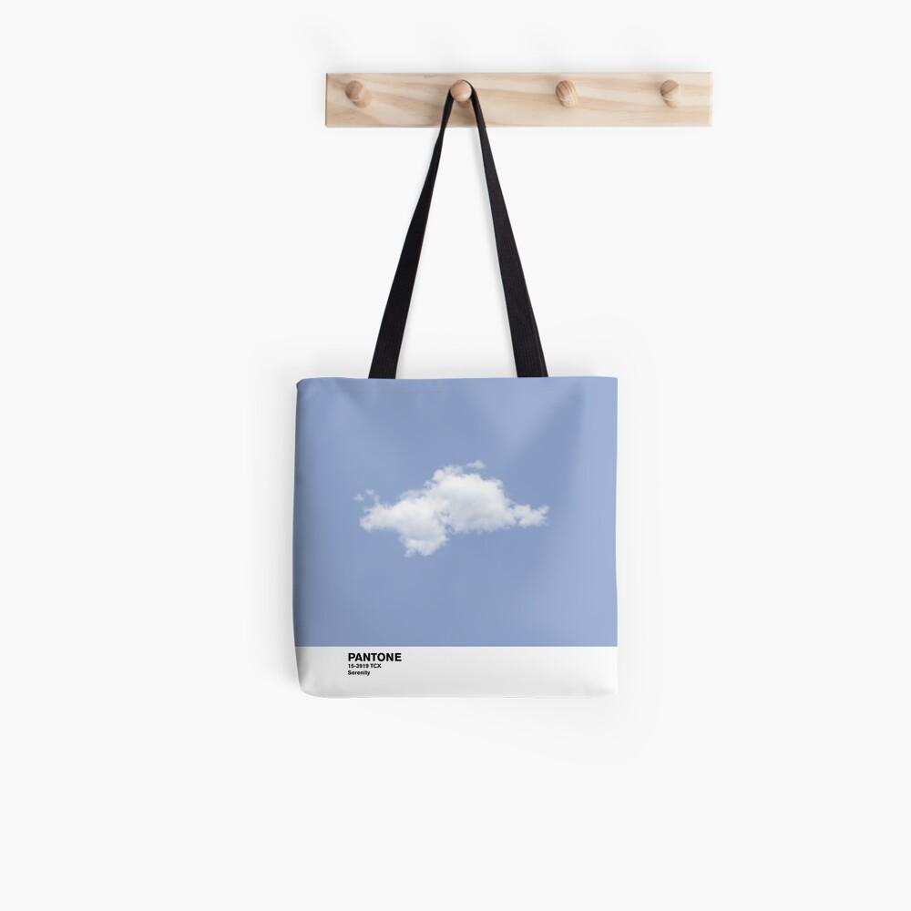 Serenity Blue Pantone Cloud Bolsa de tela