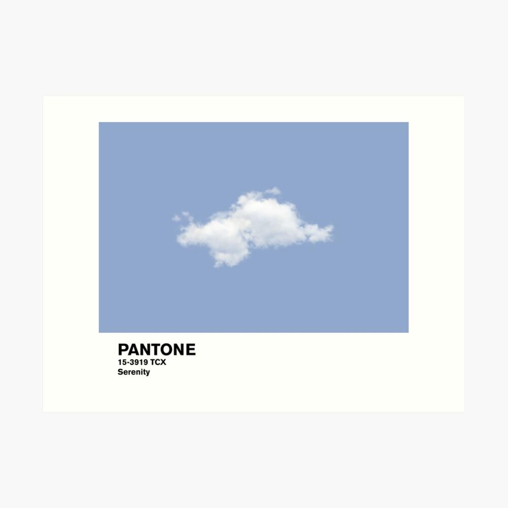 Serenity Blue Pantone Cloud Lámina artística