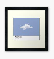 Serenity Blue Pantone Cloud Framed Print