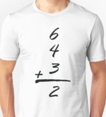 6432 simple math baseball funny t-shirts  Unisex T-Shirt