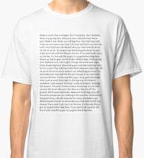 Lyrics to Big Time Rush Classic T-Shirt