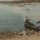 Two Men in a Boat by Valerie Rosen