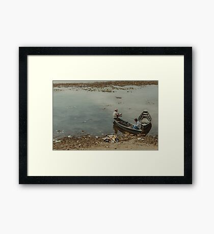 Two Men in a Boat Framed Print