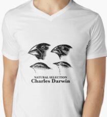 Charles Darwin - Natural Selection Men's V-Neck T-Shirt