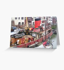 Maryport Harbour Greeting Card