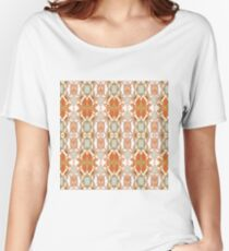 Orange, Weave, drawing, figure, picture, illustration, carpet, rug, tapis Women's Relaxed Fit T-Shirt