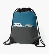 Caravan road trip | Gold Drawstring Bag