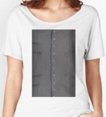 Button, clothing, garments, garment, dress, gaudy, garish, flowery, flamboyant Women's Relaxed Fit T-Shirt