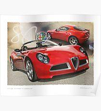 Alfa Romeo 8C Competizione Poster