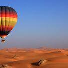 Hot Desert Balloon by David Clark