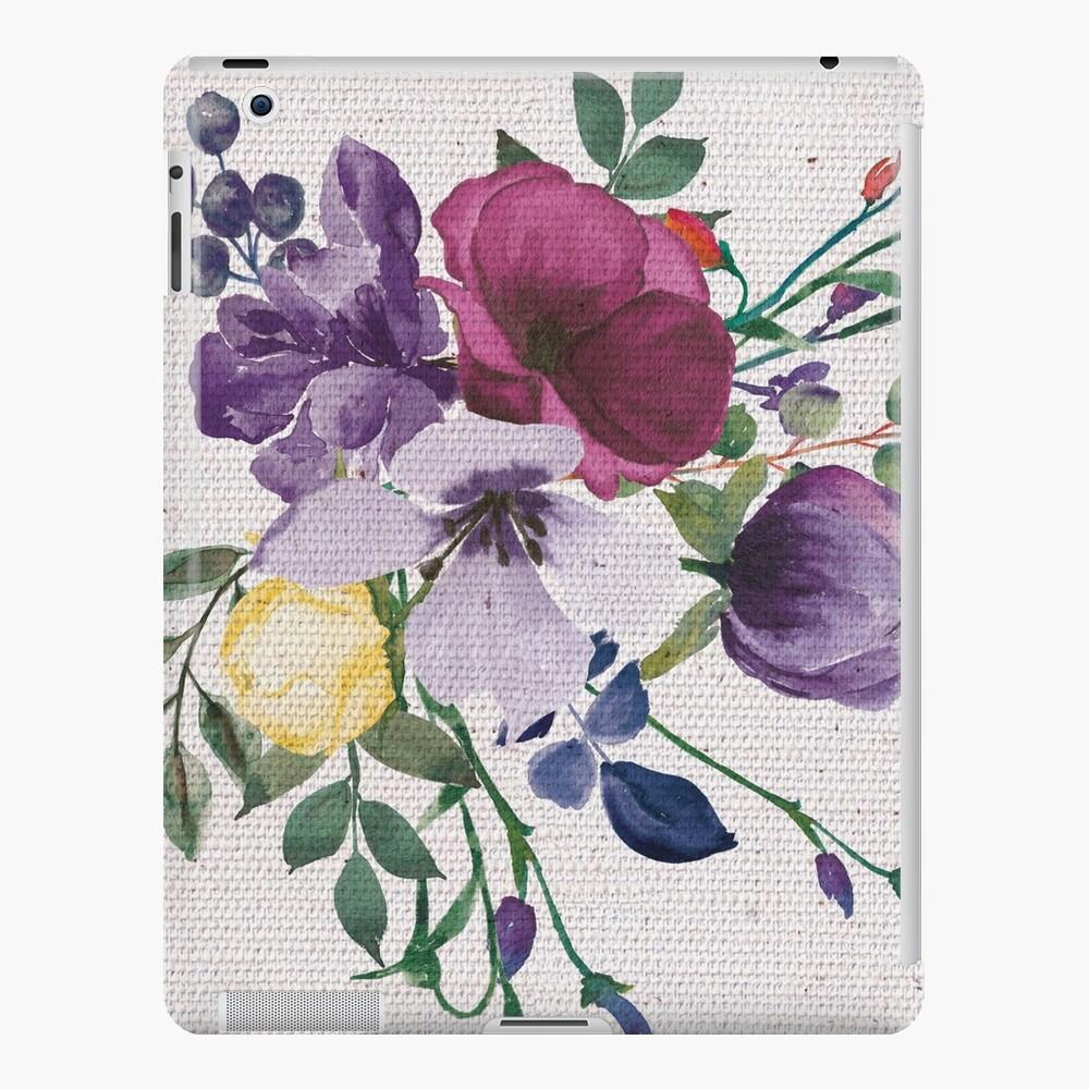 ramo del arte de la pintura de la acuarela de la vendimia Funda y vinilo para iPad