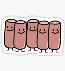Vienna Sausages friends canned meat sausage group Sticker
