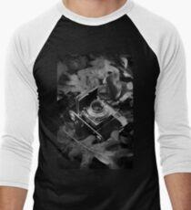 Vintage Camera Black & White Photography Men's Baseball ¾ T-Shirt