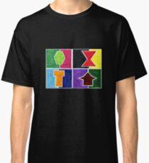 4 Cclors Card (Facemadics colorful iIllustration shape drawing) Classic T-Shirt