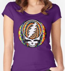 Grateful Dead Tie-Dyed Skull Women's Fitted Scoop T-Shirt
