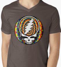 Grateful Dead Tie-Dyed Skull Men's V-Neck T-Shirt