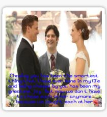 Seeley Booth Quote 4 Sticker