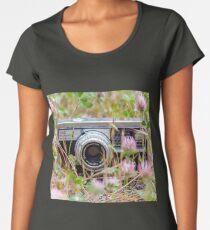 Flower Field Camera Women's Premium T-Shirt