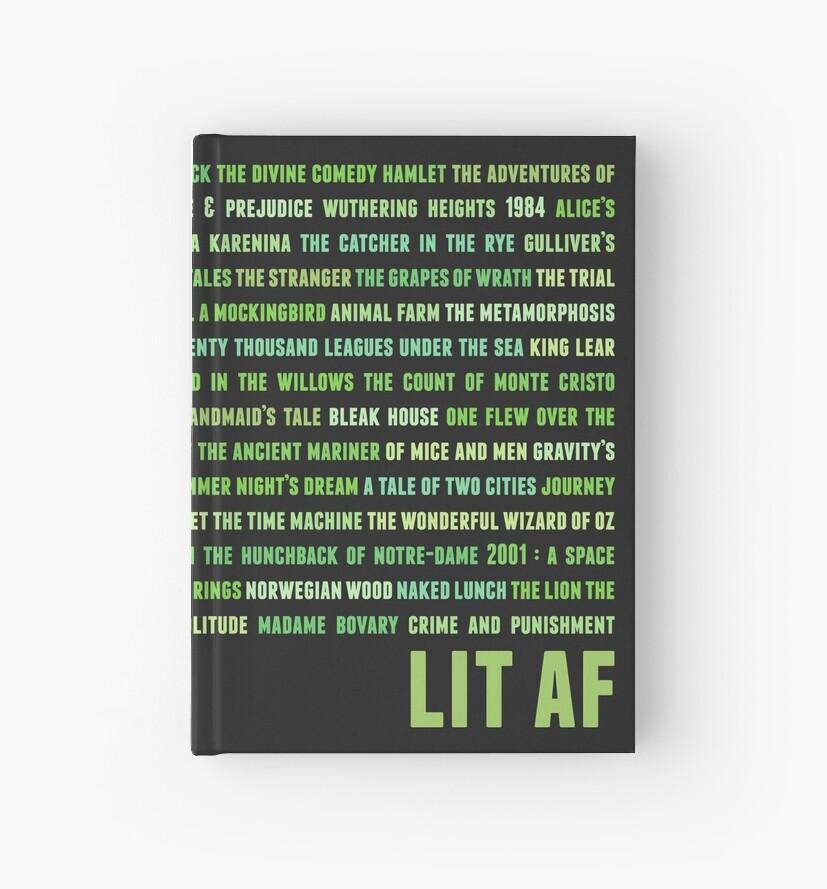 Literature AF Green 2 (black) by animinimal