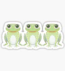 Happy Triplet Frogs Sticker