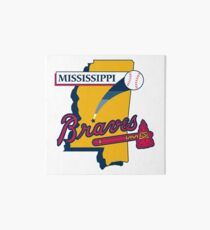 Mississippi Braves baseeball Art Board