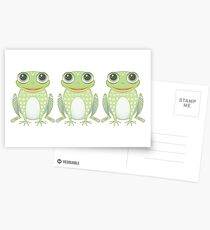 Happy Triplet Frogs Postcards