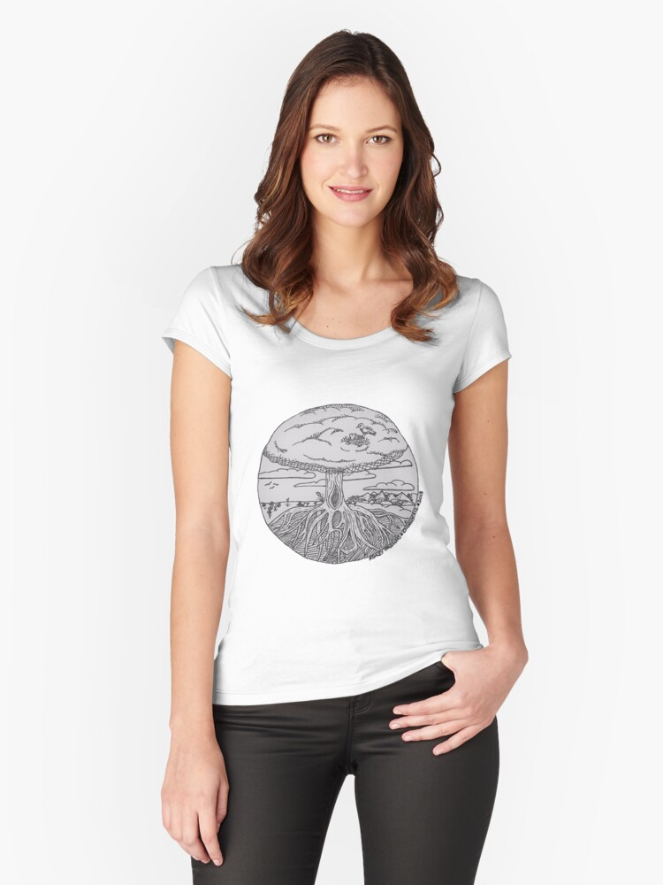 Tree of Life Women's Fitted Scoop T-Shirt Front