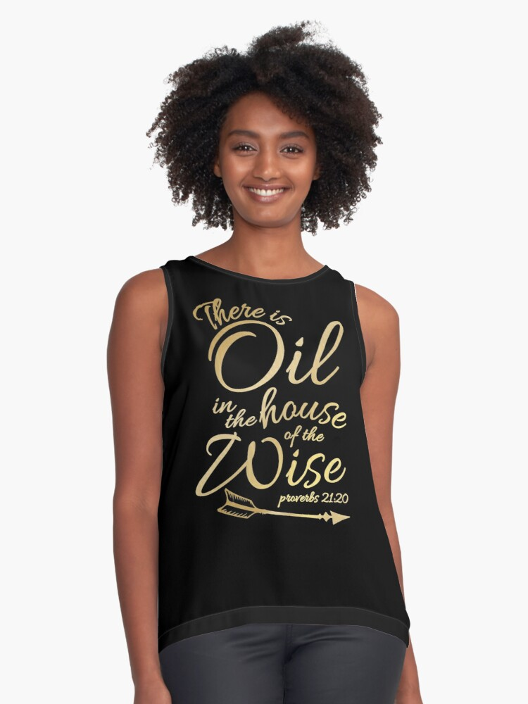 33a8d76b There Is Oil - Funny Religious Bible Essential Oils T-Shirt Contrast Tank  Front