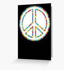 Circled Peace Sign Symbol Greeting Card