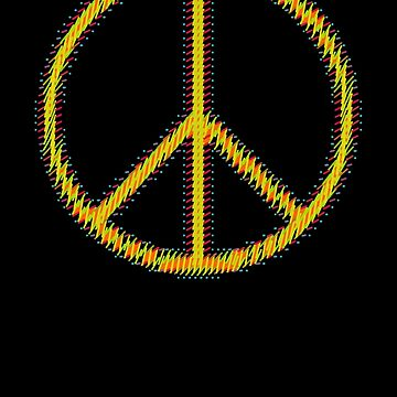 Peace Sign Symbol Abstract 5 by popculture