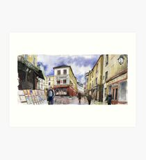 Paris Montmartre Art Print