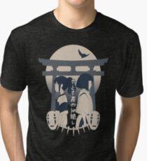 Spirited Away (blue) Tri-blend T-Shirt