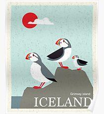 Island Vintage Reise Poster Poster