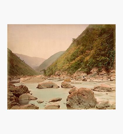 View of rapids, Kyoto Photographic Print