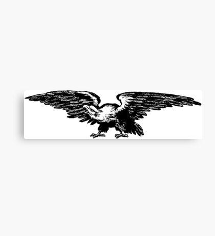 Retro and Vintage American Bald Eagle Canvas Print