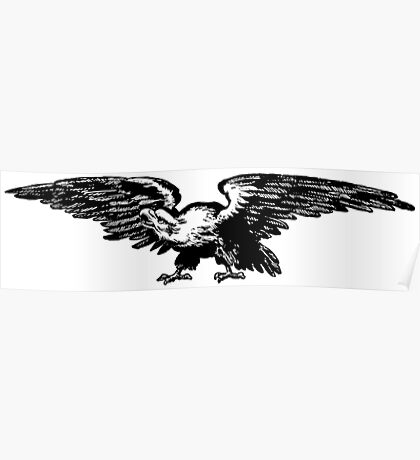 Retro and Vintage American Bald Eagle Poster