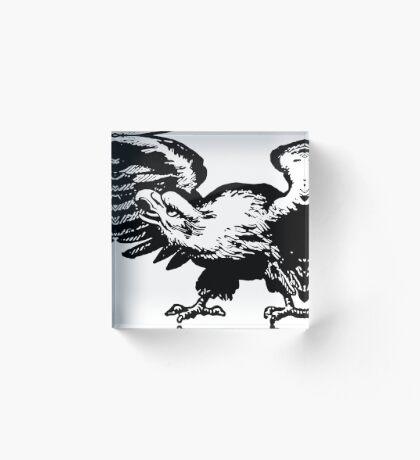 Retro and Vintage American Bald Eagle Acrylic Block