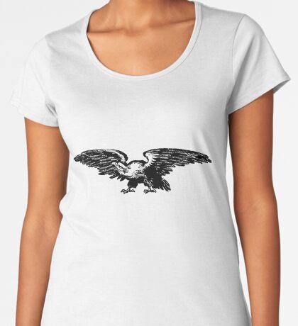 Retro and Vintage American Bald Eagle Premium Scoop T-Shirt