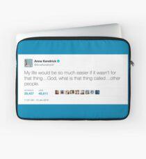 Funda para portátil Anna Kendrick Tweet - & quot; Otras personas & quot;